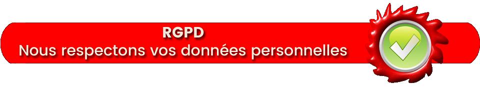 Nous respectons vos données personnelles