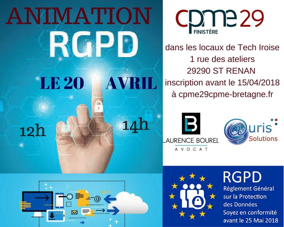 conférence RGPD CPME 29 Auris Solutions