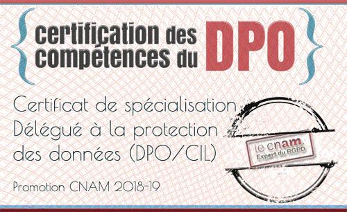 Certification DPD DPO CNAM